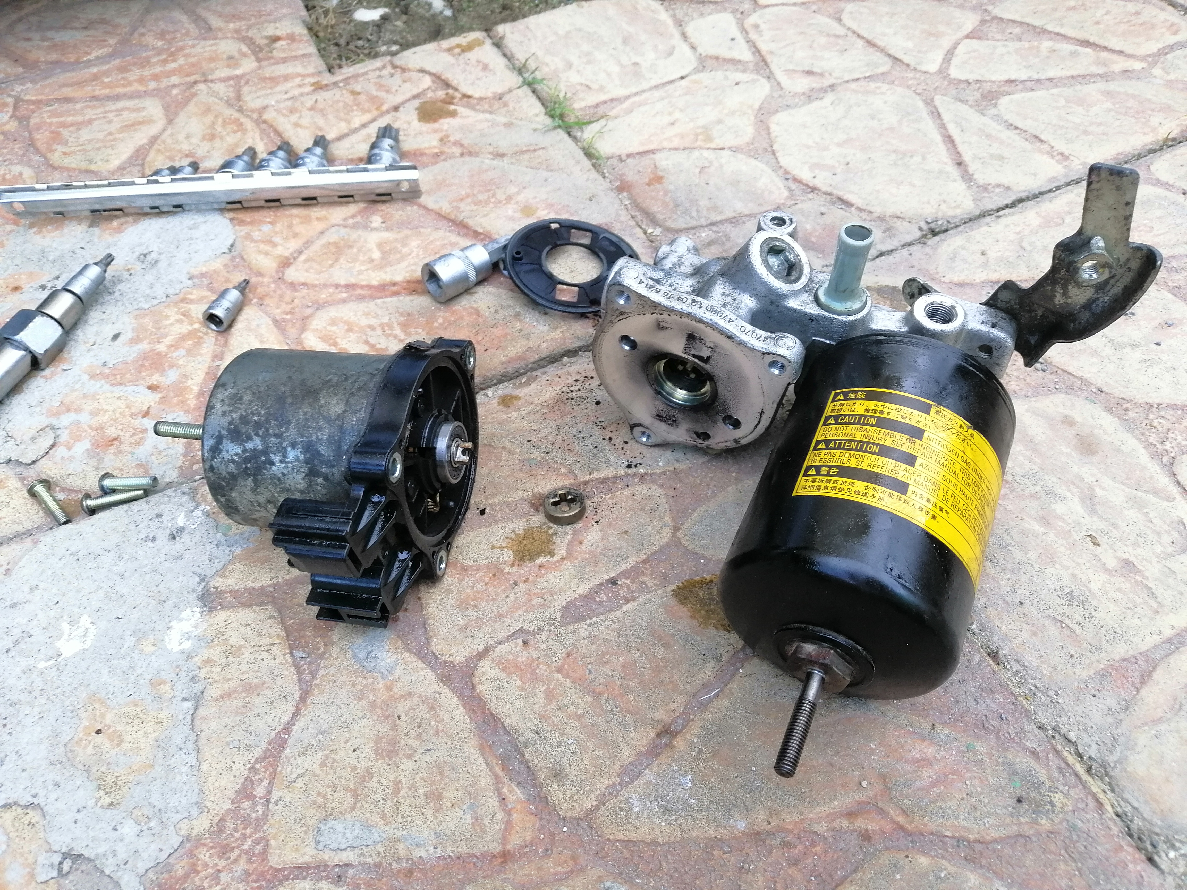 Brake Booster Pump Motor Carbon Brushes Replacement